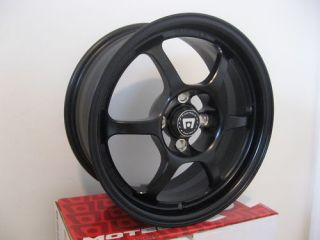 Honda Civic Acura Integra Black 4x100 Rims Wheels Light New