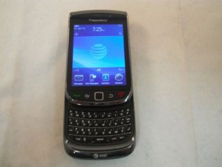 BLACK RIM BLACKBERRY TORCH 9800 AT T UNLOCKED GSM WiFi Smartphone GOOD
