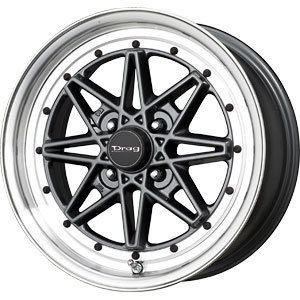 New 15x7 4x100 Drag Dr 20 Gun Metal Wheels Rims