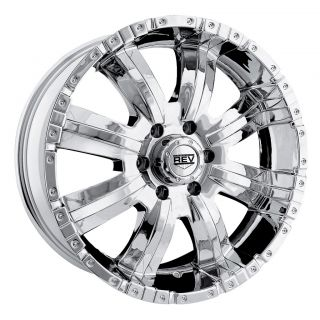 17 Chrome Rev Dirty Harry Wheels Ford Truck SUV F 150 Silverado 6 Lug
