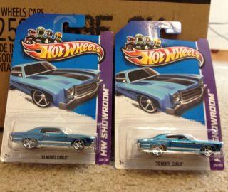 2013 Hot Wheels HW SHOWROOM 70 Monte Carlo X2 Chevy BLUE Chevrolet