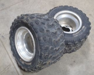 Yamaha YFZ450 YFZ Raptor Warrior Banshee Rear Wheels Tires