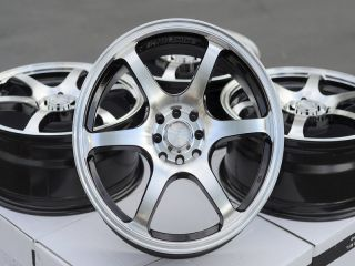 18 Black Wheels Rims 4 Lugs Mini Cooper Altima Nissan Cube Sentra