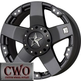 18 Black XD Rockstar Wheels Rims 8x165 1 8 Lug Chevy GMC Dodge 2500