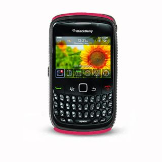 For Rim Blackberry Curve 8520 8530 9300 Hybrid Gel Hard Case Black Hot