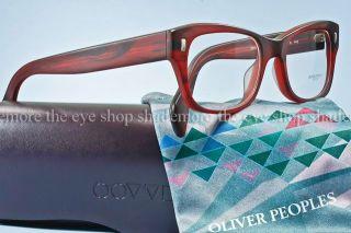 Authentic Oliver Peoples Wacks 51 Eyeglass Frame Matte Red Burgundy