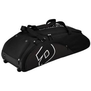 DeMarini Vendetta Baseball Softball Equipment Wheel Bag Black
