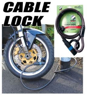 Motorcycle Bike Mammoth Loop Cable Lock Secure