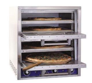 Bakers Pride Pizza / Pretzel Countertop Oven, 2 Compartments, 4 Decks, 240/3 V