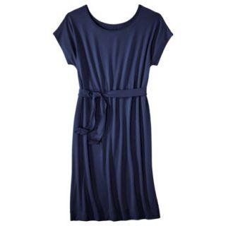 Merona Womens Knit Belted Dress   Xavier Navy   XS
