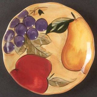 Home Trends Verdona Salad Plate, Fine China Dinnerware   Grapes,Apple,Pear On Ye