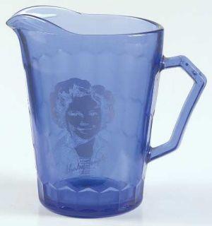 Hazel Atlas Shirley Temple Ritz/Cobalt Blue Creamer   1930S, Shirley Temple, Ri