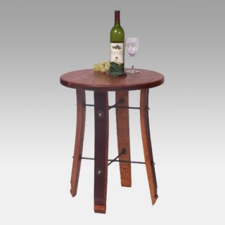 2 Day Designs Reclaimed Wine2Night Round Stave End Table Multicolor   4064