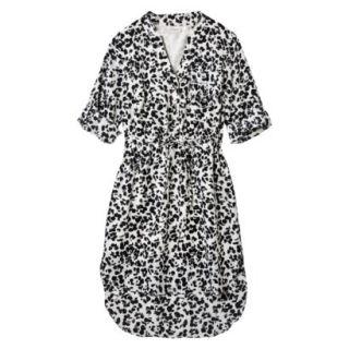 Merona Womens Drawstring Shirt Dress   Animal Print   XXL