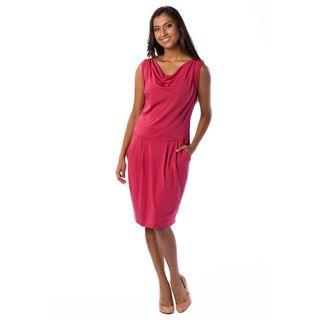 A To Z Womens Drape neck Sleeveless Dress