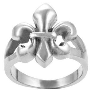 Journee Collection Sterling Silver Fleur de Lis Ring   Silver 8