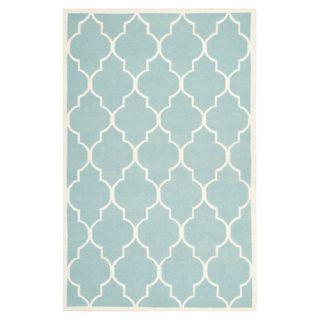 Safavieh Dhurries Light Blue/Ivory Rug DHU632C Rug Size: 4 x 6