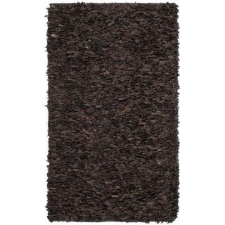 Safavieh Leather Shag Dark Brown Rug LSG421D Rug Size: 8 x 10