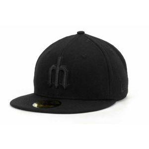 Seattle Mariners New Era MLB Black on Black Fashion 59FIFTY Cap