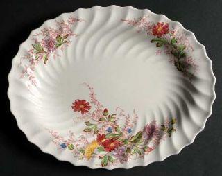Spode Fairy Dell (Swirled) 11 Oval Serving Platter, Fine China Dinnerware   Mul