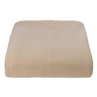 Super Soft Fleece Blanket   Sand (Full/Queen)
