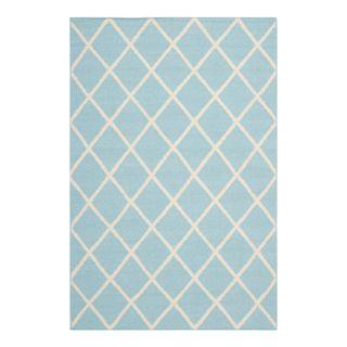 Safavieh Dhurries Light Blue/Ivory Rug DHU565B Rug Size: 6 x 9
