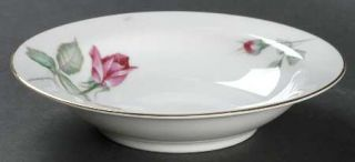 Wentworth Rosita Rim Fruit/Dessert (Sauce) Bowl, Fine China Dinnerware   Red Ros