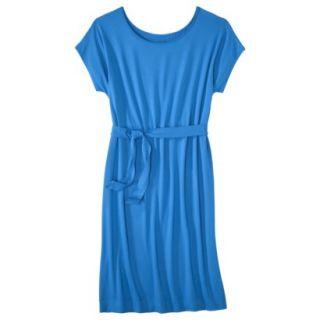 Merona Womens Knit Belted Dress   Brilliant Blue   XS