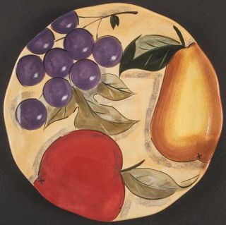 Home Trends Verdona Dinner Plate, Fine China Dinnerware   Grapes,Apple,Pear On Y