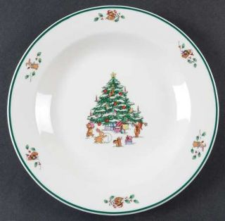 Salem Whimsical Christmas Salad Plate, Fine China Dinnerware   Christmas Tree,An