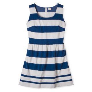 Merona Womens Plus Size Short Sleeve Ponte Dress   Black/Cream 1X
