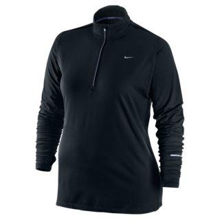 Nike Women`s Extended Element Half Zip Running Top 1X 010_Black