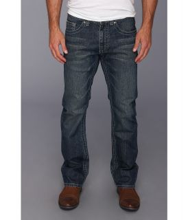 Request Henry Mens Rips Tears Jeans in Vintage Ryan Mens Jeans (Blue)
