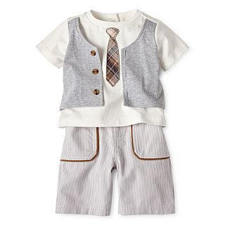 Wendy Bellissimo 2 pc. Short Set   Boys 6m 24m, Heather Gr, Girls