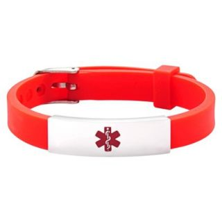 Hope Paige Red Durable Rbbr Watch Band Buckle Red   6 9