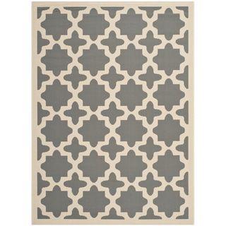 Safavieh Courtyard Anthracite/beige Indoor/outdoor Stain resistant Rug (53 X 77)