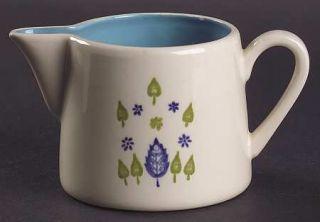 Marcrest Swiss Alpine Creamer, Fine China Dinnerware   Blue Flowers, Blue & Gree