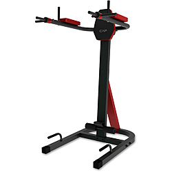 Cap Strength Convertible Vkr Power Tower (Black/redNarrow and wide grip pull up barVertical knee raise stationDip station and push up handlesArm rests can be raised and locked in place to use as a pull up stationOversized tubing and thick two tone padding