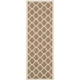 Safavieh Indoor/ Outdoor Courtyard Brown/ Bone Rug (23 X 67)
