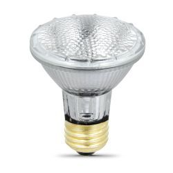 Feit Electric 38PAR20/QFL/ES Light Bulb, 50W 120V PAR 20 Halogen Compact Flood