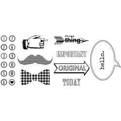 Dapper Dan Rubber Stamps Tin