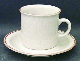 Alpine Mountain Brook Gardens Flat Cup & Saucer Set, Fine China Dinnerware   Ora