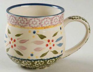 Temp Tations Old World Confetti Mug, Fine China Dinnerware   Multicolor Sponge B