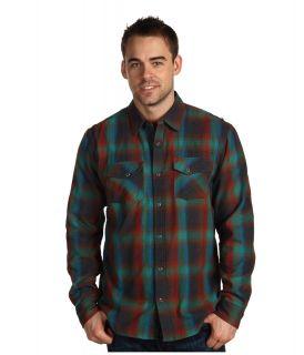 Prana Asylum Flannel Mens Long Sleeve Button Up (Gray)