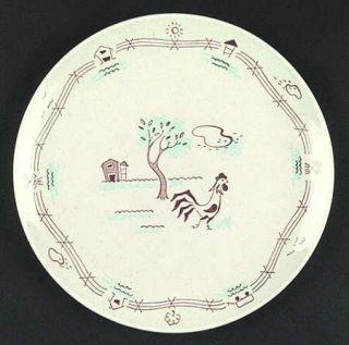 Royal (USA) Farmer In The Dell Dinner Plate, Fine China Dinnerware   Tan Specks,