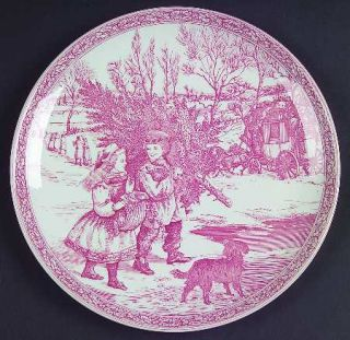 Spode Victorian Annual Christmas Pink 1995 Annual Christmas Plate, Fine China Di