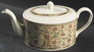 Johnson Brothers Mc Baine Teapot & Lid, Fine China Dinnerware   Flowers & Swags