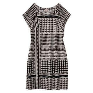 Merona Womens Crepe Shift Dress   Cream/Black   M
