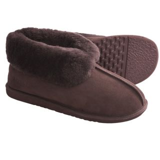 Acorn Sheep Ram Island Slippers   Sheepskin (For Men)   CHOCOLATE (10 )