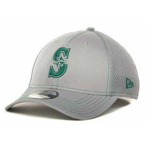 Seattle Mariners New Era MLB Gray Neo 39THIRTY Cap